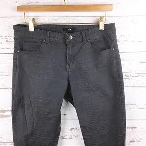 🐢 H&M Textured Faux Snakeskin Skinny Pants